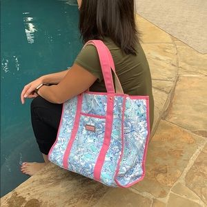 Lilly Pulitzer KKG Tote Bag and Cosmetic Bag